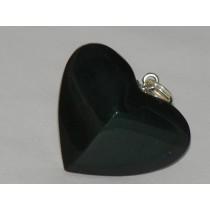 Obsidienne pendentif coeur