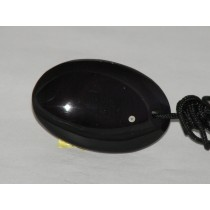 Obsidienne palet ovale pendentif