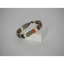 Bracelet pierres roulées rectangle