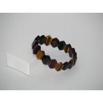 Bracelet 3 oeils pierres losange ( Tigre, faucon, taureau)
