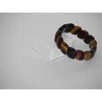 Bracelet 3 oeils pierres rectangles (Tigre, faucon, taureau)