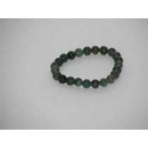 Agate mousse perles bracelet