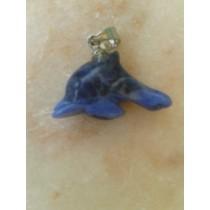 Lapis lazuli pendentif dauphin