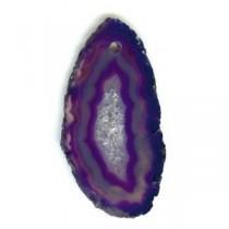 Agate violette tranchée pendentif