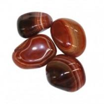 Agate marron pierre roulée