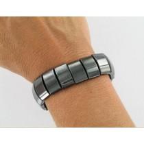 Hématite Perles Plates bracelet