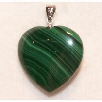 Malachite pendentif coeur