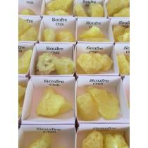 Coffret 54 pièces Soufre / Obsidienne noire / Calcite orange