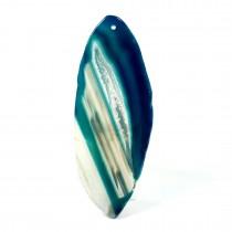 Agate  bleue tranchée polie pendentif