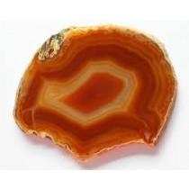 Agate marron tranchée polie