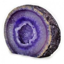 Géode Agate violette
