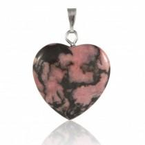 Rhodonite  pendentif coeur