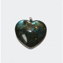 Labradorite  pendentif coeur