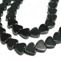 Hématite collier coeur
