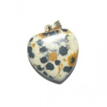 Jaspe dalmatien pendentif coeur