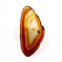 Agate marron tranchée polie pendentif