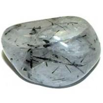 Quartz Tourmaline pierre roulée