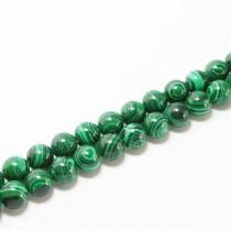 Collier perles rondes malachite